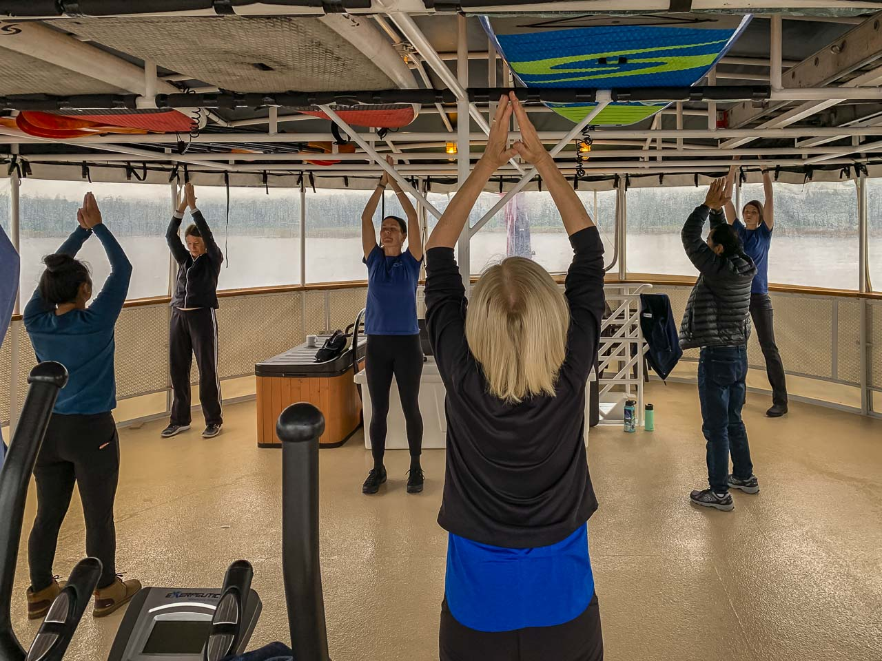 Morning Yoga on Uncruise alaska