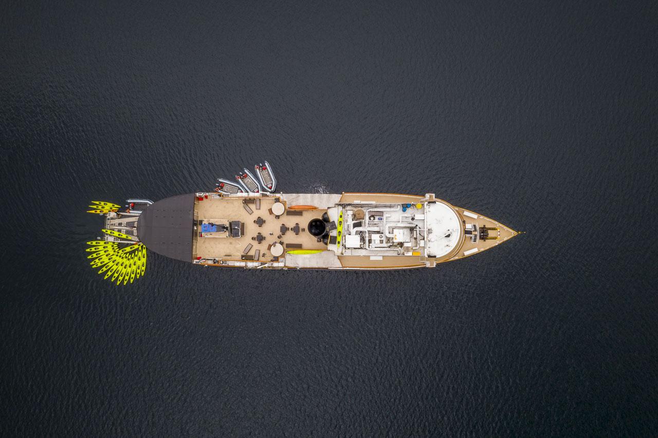 Small ship cruising in Alaska with Uncruise