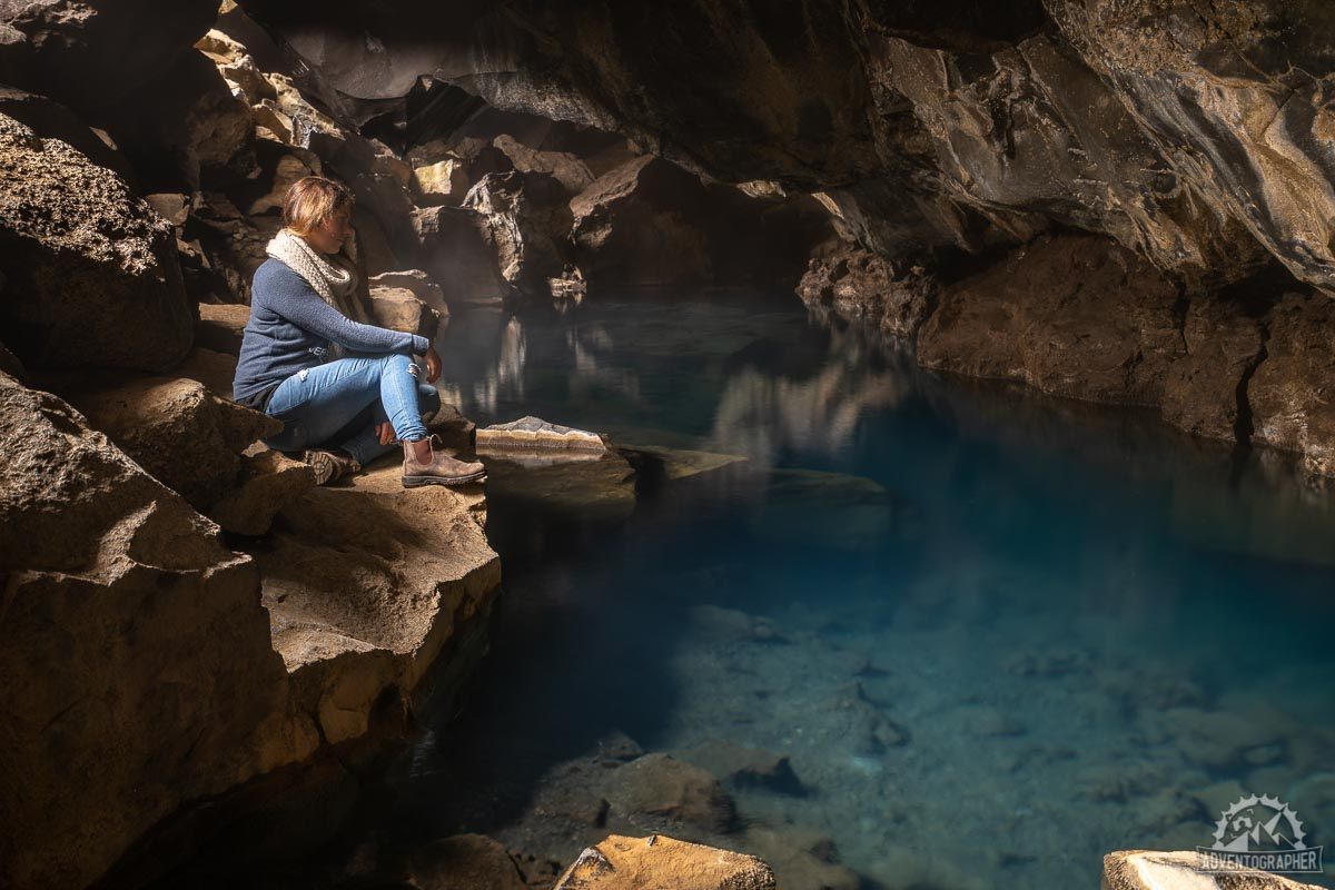 what to do in Iceland beautiful Grjótagjá hot spring cave