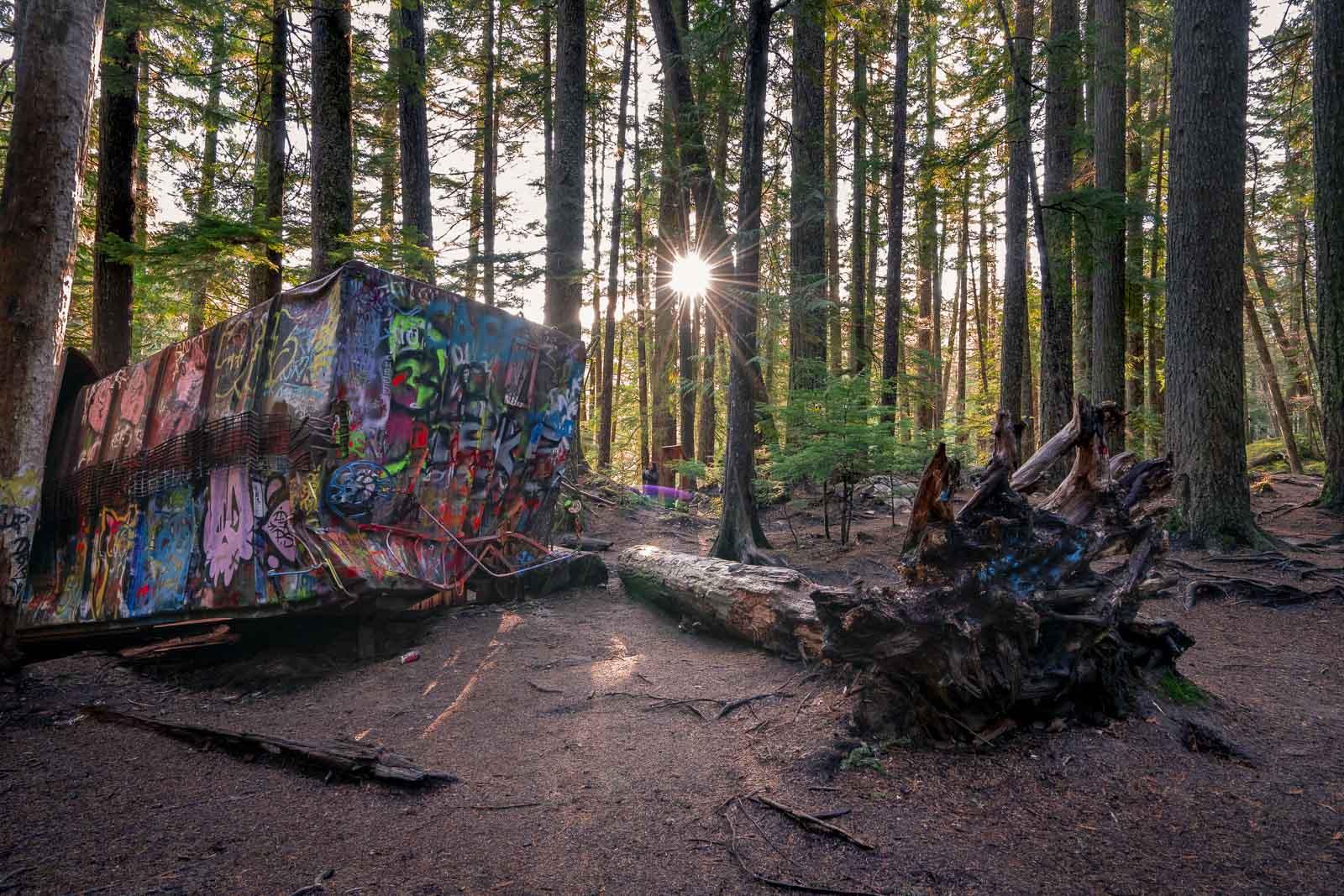 Train Wreck Trail near Whistler