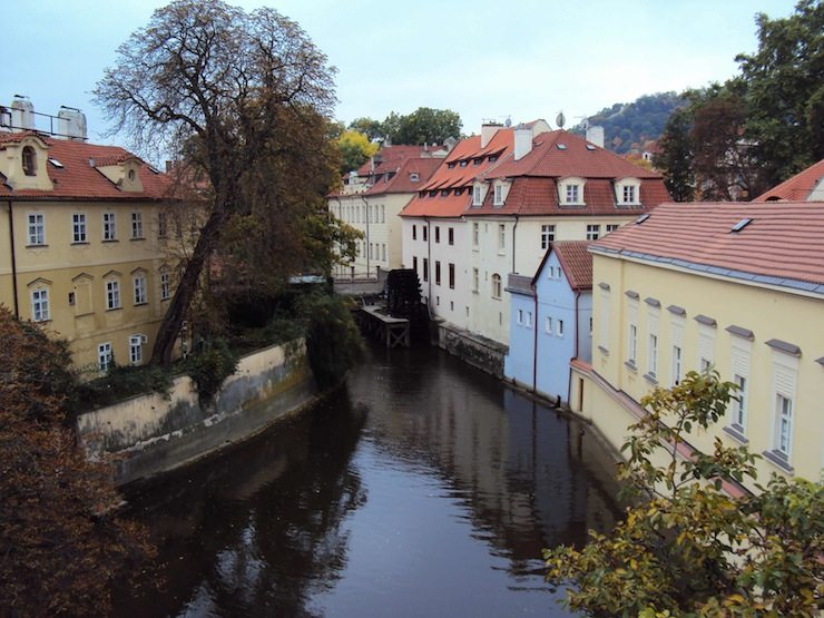 View from a small bridge prague