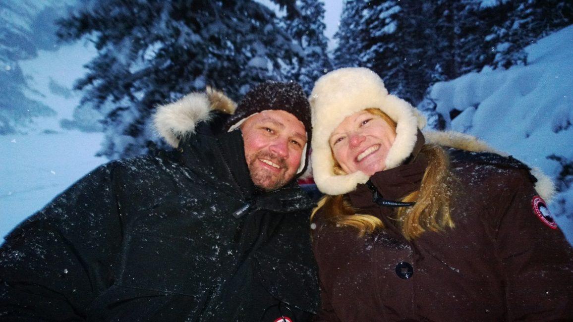 Dave and Deb winter alberta