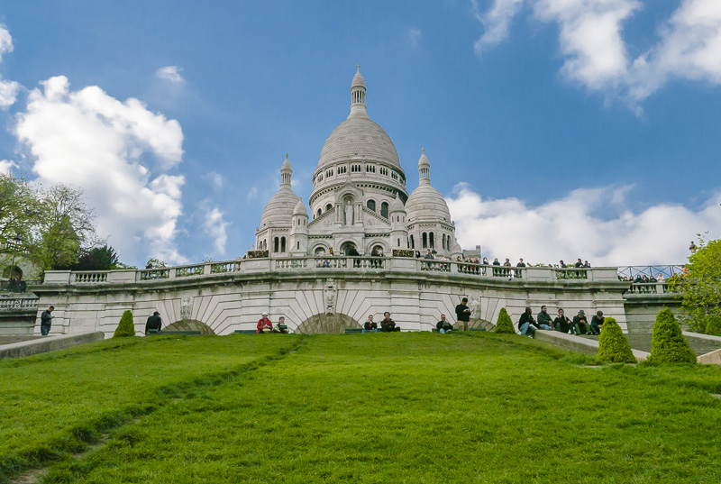 Sacre Coeur in the Montmartre Neighbourhood