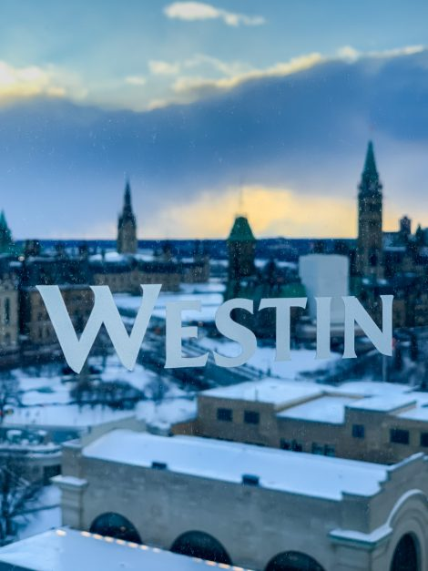 Westin Hotel for Winterlude in Ottawa