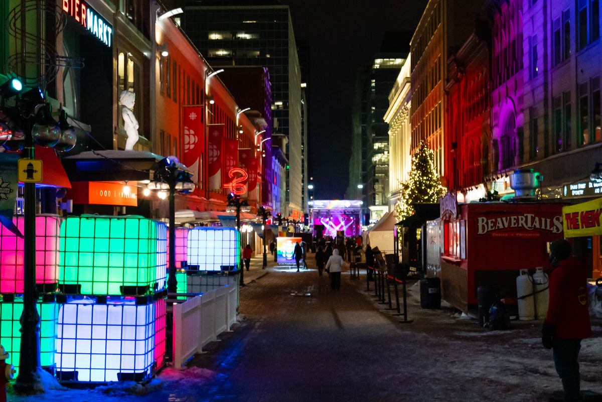 Winterlude in Ottawa on Sparks Street