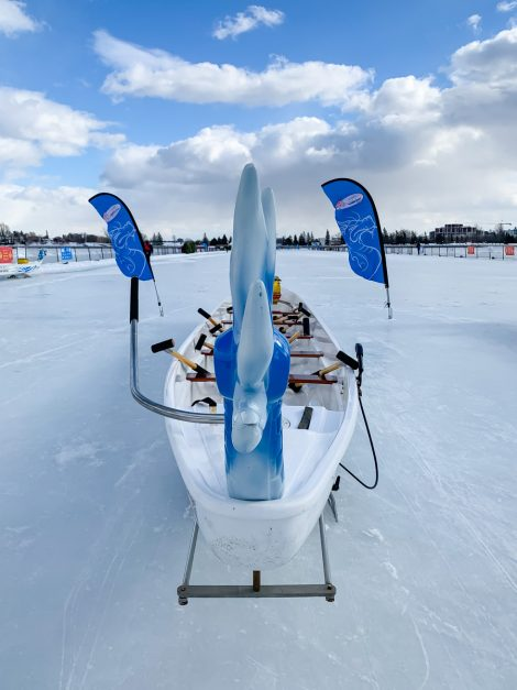 Drangonboat races at Winterlude in Ottawa