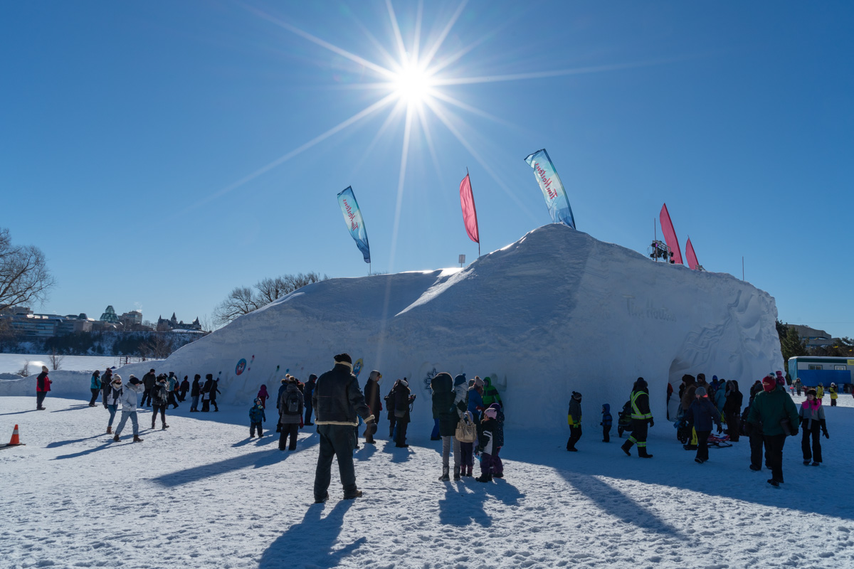 JAques Cartier Park for Winterlude Ottawa