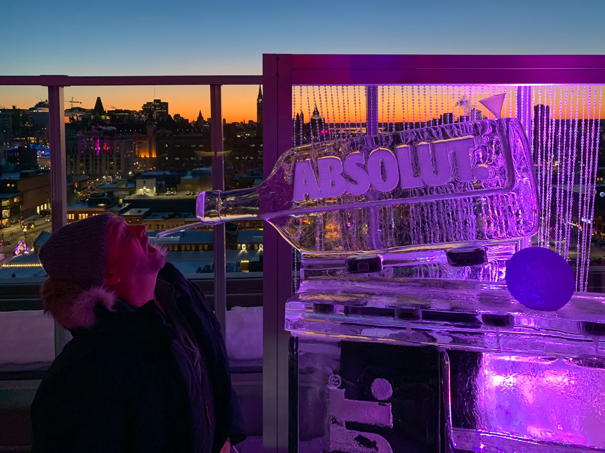ICe Bar at the Andaz for Winterlude in Ottawa