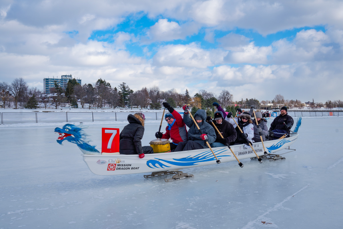 Dragonboat Racing winterlude ottawa