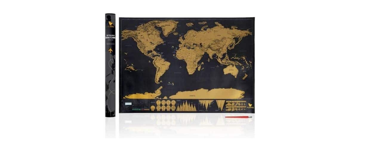World Scratch Map for Travelers