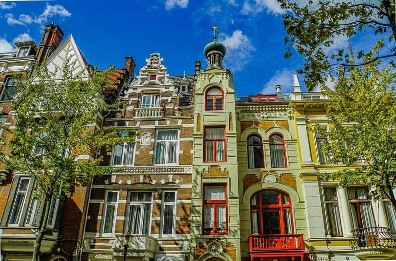 Zevenlandenhuizen in the Amsterdam neighborhood of Oud West