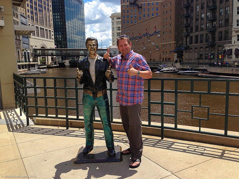 the fonz statue milwaukee