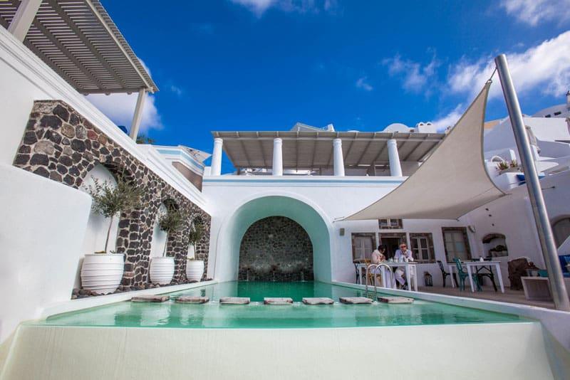 about santorini pool