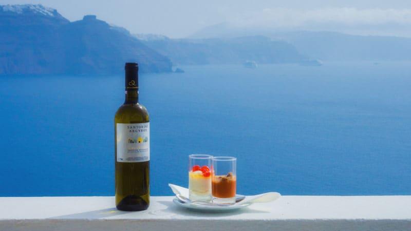 about santorini wine