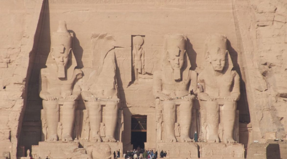 Closer View of Abu Simbel in Egypt