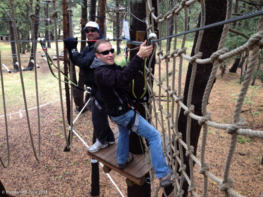 adventure travel, high ropes in spain