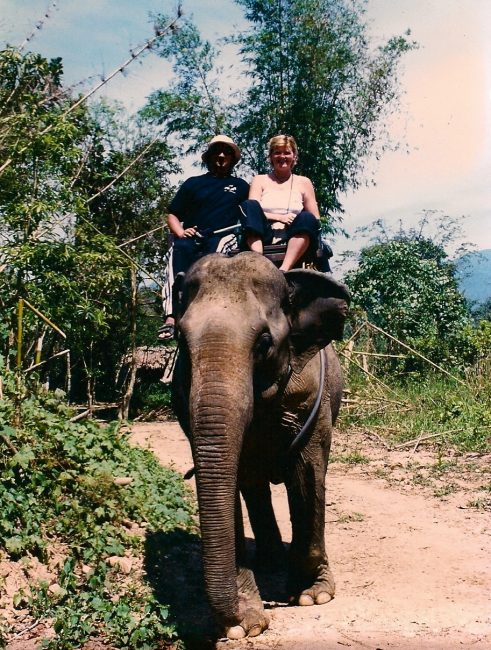 elephant trek adventure travel in Thailand