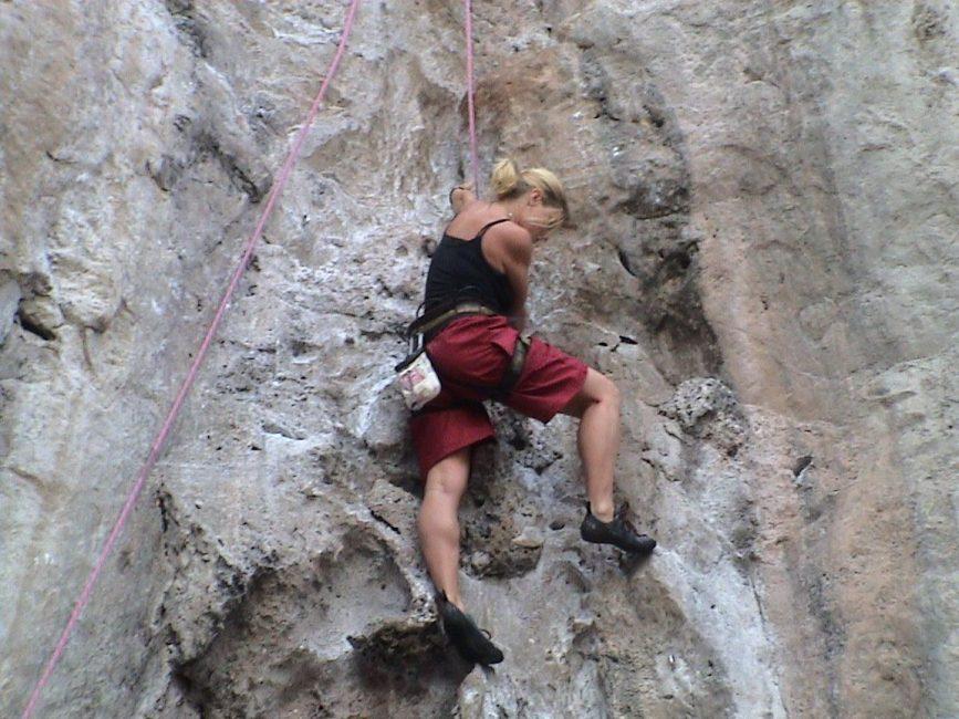 Adventure travel thailand rock climbing