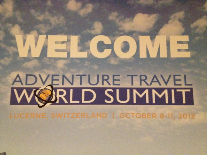 welcome sign of adventure travel world summit