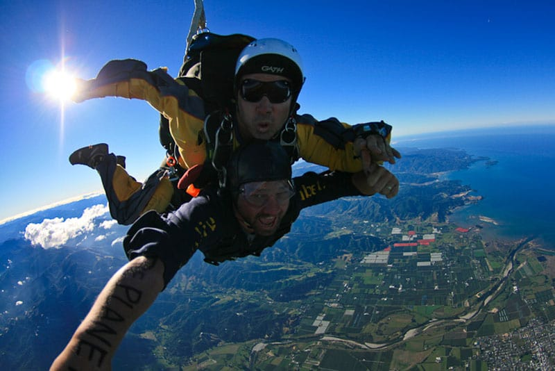 adventures around the world skydiving