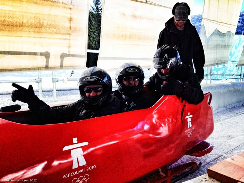 canadian adventures bobsledding
