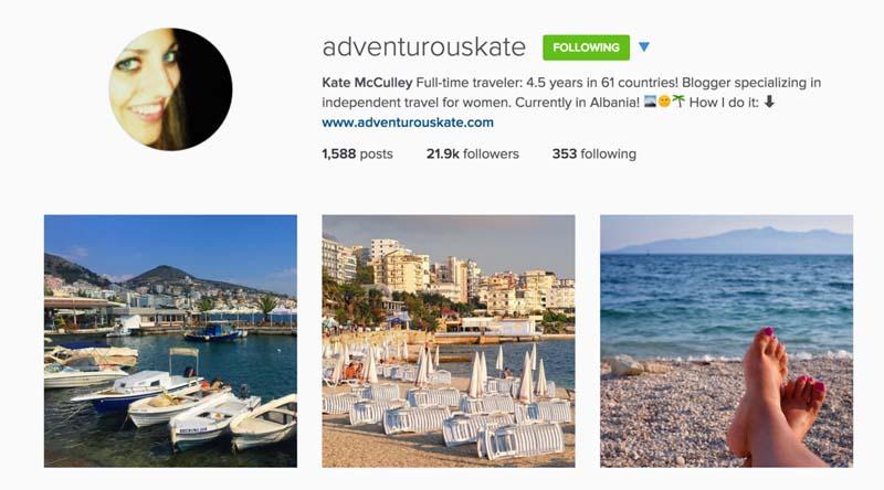 top instagrammers travel
