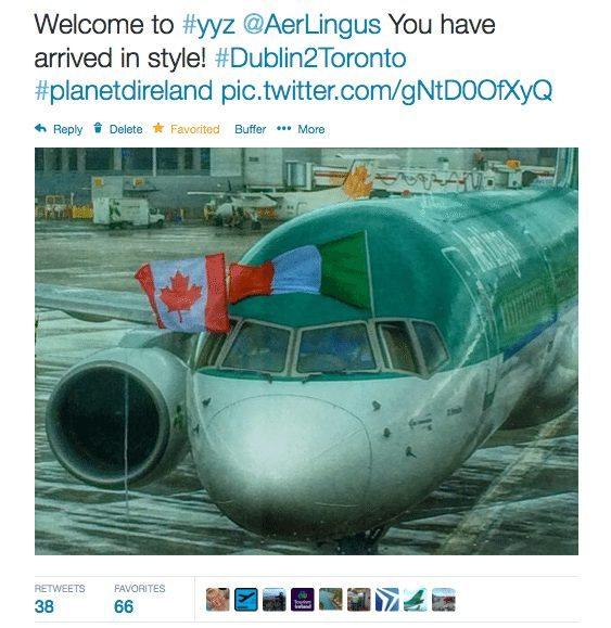 Aer Lingus toronto to dublin