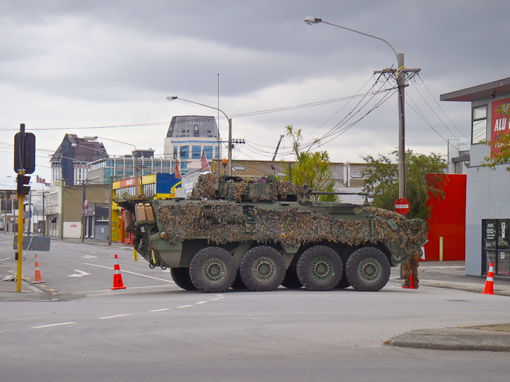 aftershocks in christchurch truck