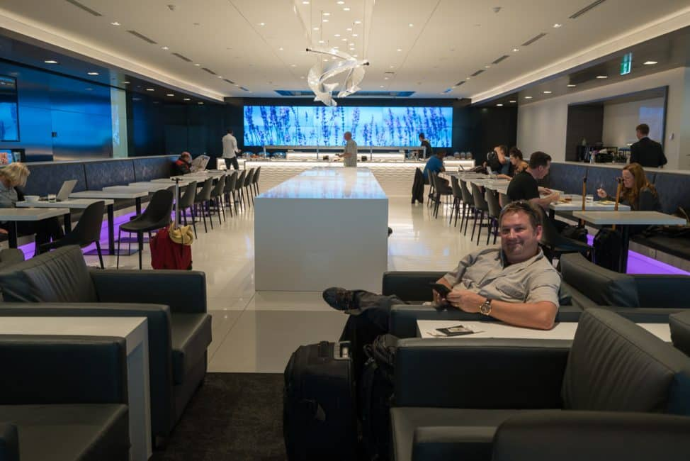 Loved the Air New Zealand lounge in Aukland as well.