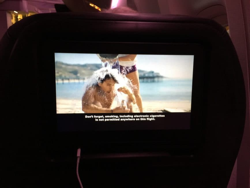 Great safety videos on our flight with Air New Zealand to Australia