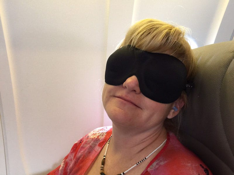 air travel eye mask