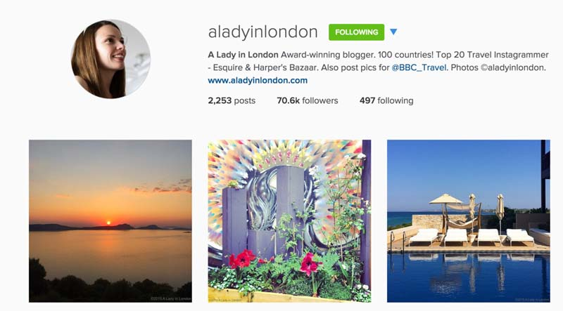 top travel instagrammers a lady in london