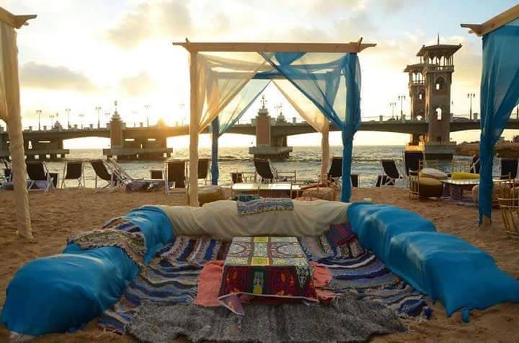 beach cafe alexandria egypt