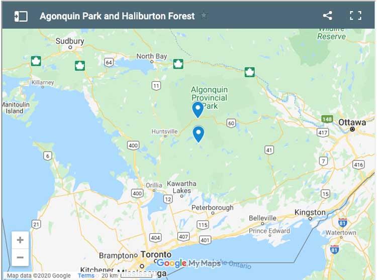 places to visit in Algonquin Provincial Park and Haliburton Forest
