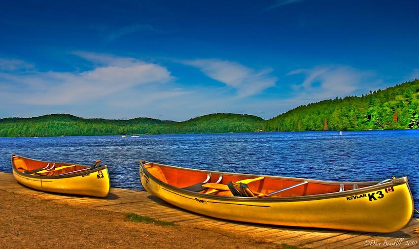 algonquin park canoes