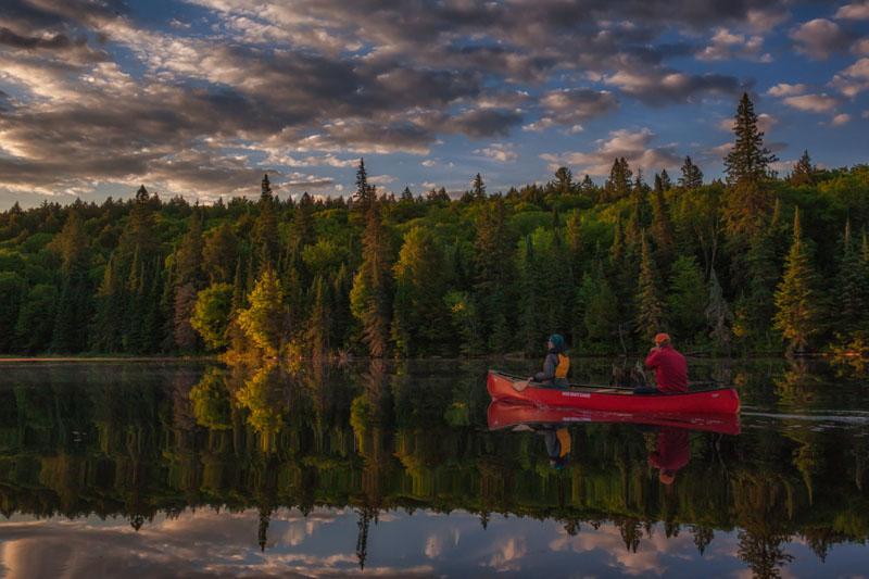 canoe alongquin park