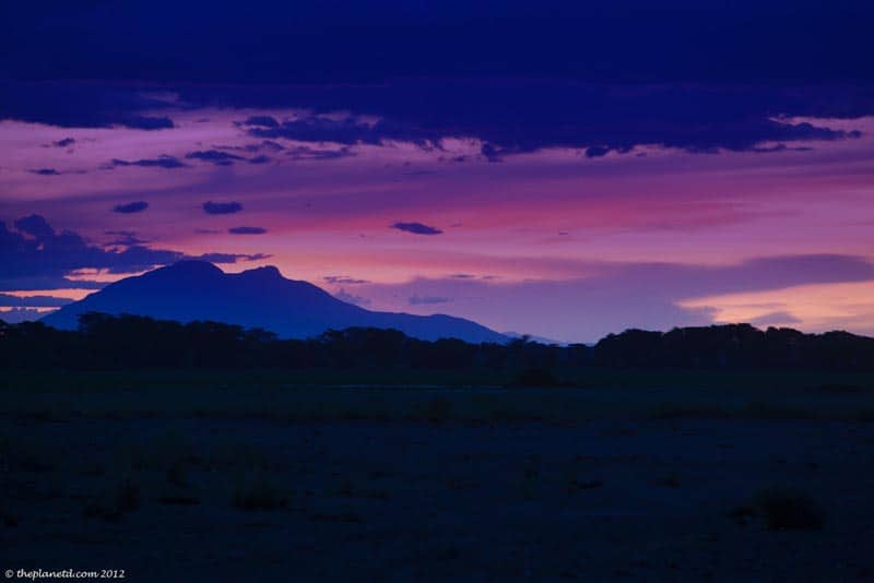 Amboseli National Park Kenya Sunset