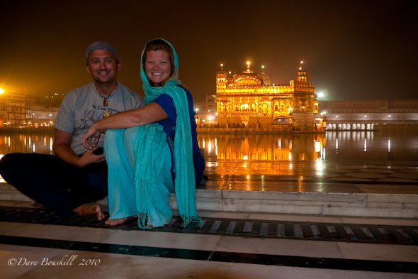 travel as a couple together at the Golden Temple of India