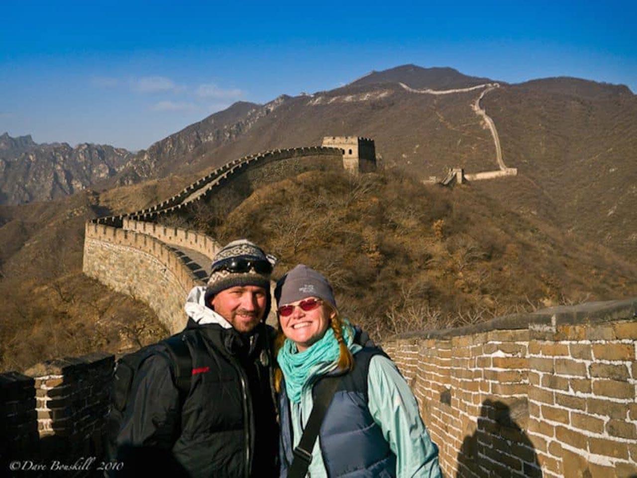 dave and deb great wall of china