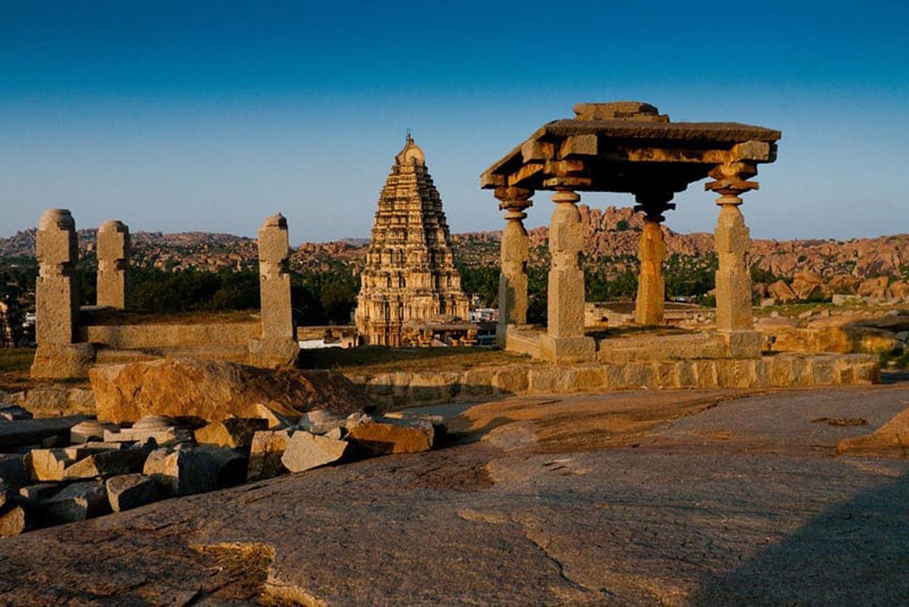 ancient ruins india hampi in Karnataka