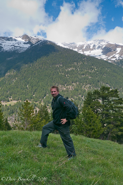 in the pyrenees of Andorra | Dave posing