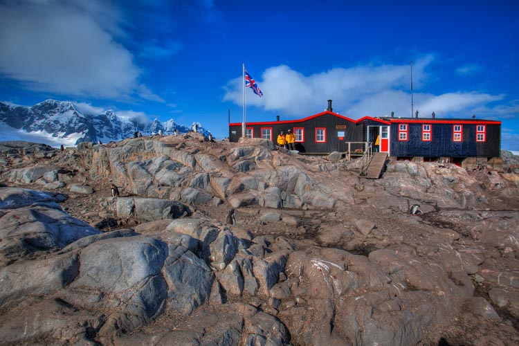 antarctica research station exterior