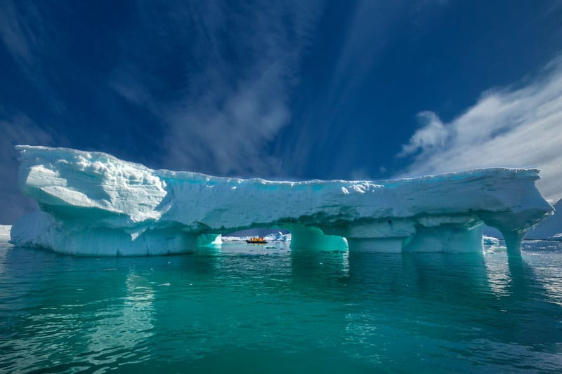 antarctica green water