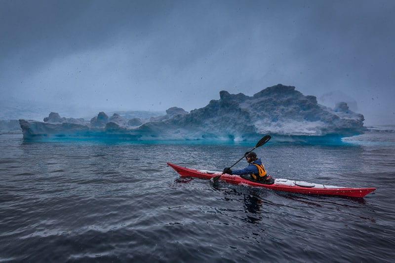 antarctica kayak
