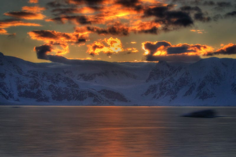 antarctica photos sunset