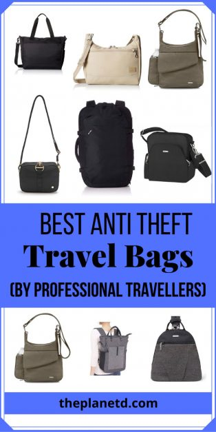 the best anti theft travel bags and purses