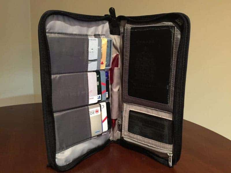 pacsafe wallet anti theft travel accessories