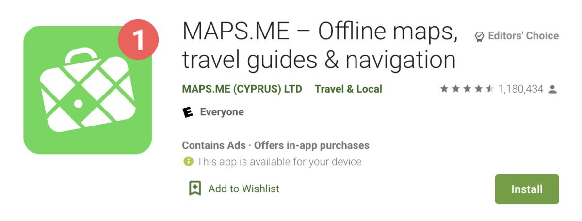 maps me travel navigatgion app