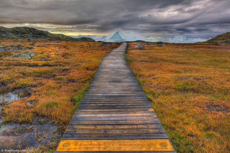 arctic cruise greenland path