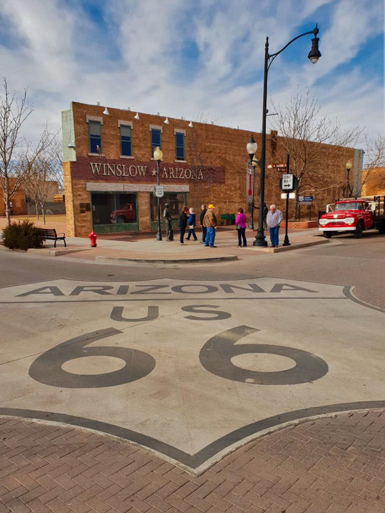 old town of winslow arizona on route 66